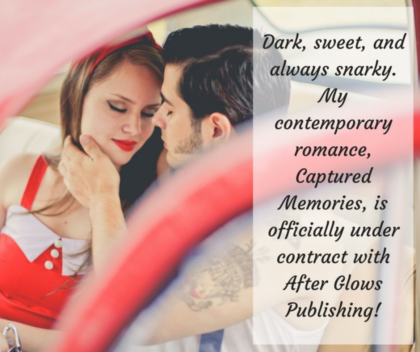 Dark, sweet, and always snarky--my Cupid's Cafe story, Captured Memories, is under contract with After Glows Publishing!
